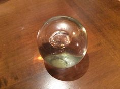 SALE  Hand Blown Clear Glass Orb Hand Crafted Glass by MoltenColor