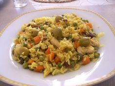 Receta de Arroz del campo de dificultad Muy fácil para 4 personas lista en 35 minutos. Puerto Rican Recipes, Spanish Rice, Latin Food, Rice Dishes, International Recipes, Rice Recipes, Fried Rice, Risotto, Grains