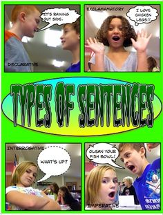 Take photos of your students and use comic life to display their knowledge of the types of sentences.