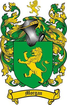 MORGAN FAMILY CREST - COAT OF ARMS gifts at www.4crests.com