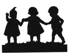 Sisters brother Child Silhouette die cut for scrapbooking and card making via Etsy Silhouette Clip Art, Silhouette Portrait, Baby Silhouette, Kirigami, Newspaper Art, Simple Line Drawings, Stencil Painting, Illustrations, Silhouettes