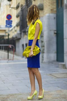 c93f626603be8f 144 Best Blue & Yellow Fashion Inspiration images in 2013 | Yellow ...