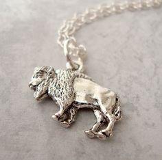 Silver Buffalo Run Charm Necklace  everyday by lucindascharms, $10.00