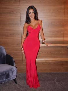 Rebecca Stella red dress