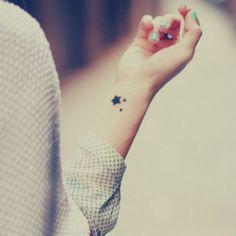 étoile sur le poignet