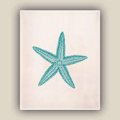 Starfish Print, Sea Star 8x10 print , Marine Wall Decor, Nautical art, Seashore art Print, Coastal Living. $13.50, via Etsy.