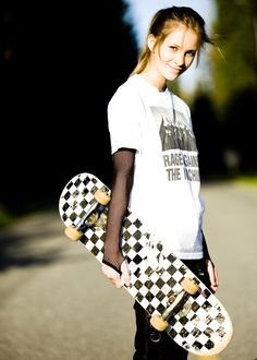 """""""Skater girl"""" Bri, Snohomish HS, Class of 2009. What wound up winning a couple awards in professional photography competitions, this print still hangs in 16x24 in my studio. by Julian Michael"""