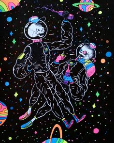 Space Bros - Markers and fineliner on paper, A5 - Imgur