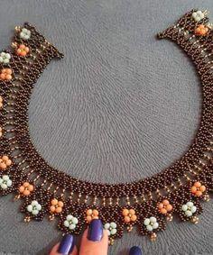 Beaded Rings, Beaded Jewelry, Beaded Bracelets, Necklaces, Handmade Beads, Handmade Jewelry, Beaded Necklace Patterns, Beading Patterns Free, Beaded Collar
