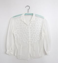 1950's sheer chiffon blouse by 1919vintage on Etsy