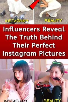 """When you scroll through Instagram, you probably see many pictures of celebrities and influencers who are perfectly posed and made-up. You might wonder, """"How does this person always look so perfect?"""" Well, here is the secret, they probably don't look that good in real life, and their pictures are edited. Kim Britt and Vienna are two influencers revealing the not so perfect side of their pictures. Take a look and remember that not everything you see on Instagram is real."""