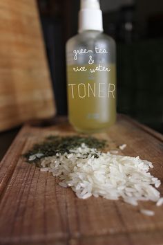 the Roses: Green Tea and Rice Water Facial Toner plus New Routine. Recipe: 1 cup distilled water 2 tbsp dried loose green tea leaves, organic 1/4 cup dried jasmine rice, preferably organic