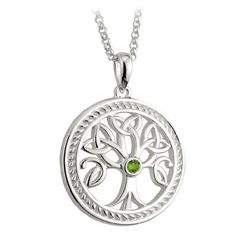 Sterling Silver Irish Celtic Tree of Life Pendant Trinity Knot Leaf Detail. Looking for the perfect gift for a wife, girlfriend, sister, daughter or friend? Get her a beautiful gift created in Ireland.