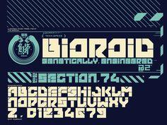 Bioroid Font