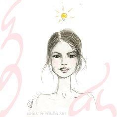 Where art and design intertwine. Illustrator Artists, Female Sketch, Drawings, Print Design, Fashion Illustration, Art, Art Deco Design