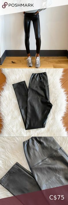 Aritzia Daria Ankle Pant Aritzia Wilfred Free Daria Ankle Pant Size XS Vegan leather EUC Worn twice, no flaws to note Aritzia Pants & Jumpsuits Leggings Grey Leggings, Striped Leggings, Leggings Are Not Pants, Colorful Leggings, White Keds, Under Pants, Best Black