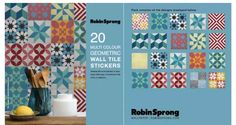 Wall Tile Stickers are perfect for DIY or can be purchased as gifts. Change the look and feel of your home with easy, commitment-free stick-on tile transfer & Decal patterns Tile Transfers, Stick On Tiles, Geometric Wall, Wall Tiles, Surface Design, Decorative Accessories, Decals, New Homes, Display