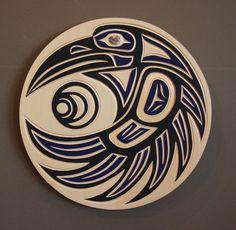 native american raven and crow art Arte Haida, Haida Art, Crow Art, Raven Art, Arte Tribal, Tribal Art, Native Art, Native American Art, Tatouage Haida