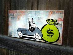 Monopoly Uncle Pennybags Original Graffiti Art Painting on Canvas  https://www.etsy.com/listing/253122102/monopoly-uncle-pennybags-graffiti-art