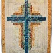Quilting: Log Cabin Cross Wall Ianging