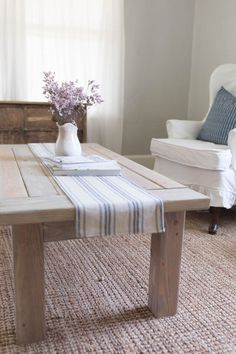 Table shanty 2 chic 21 free diy coffee table plans you can build today ana Simple Coffee Table, Cool Coffee Tables, Decorating Coffee Tables, Coffee Table Design, Easy Coffee, How To Build Coffee Table, Diy Coffee Table Plans, Farmhouse Dining Room Table, Farmhouse Furniture