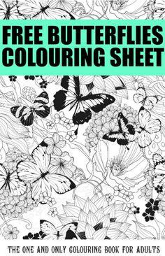 Free Colouring Pages For Adults: Butterflies Colouring Page - Crafts on Sea