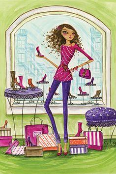 """Shop the City: """"Shoe Shop"""" By Bella Pilar Canvas Print #BPR116"""