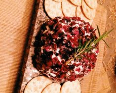 Goat Cheese and Cranberry Cheese Ball with Rosemary