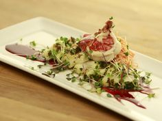 War of the Lobster: Monkfish, Lobster, Carrot Pistachio Slaw, Beech Plum Wine Reduction