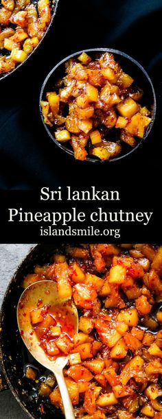 A sweet and spicy pineapple chutney. having a bottle of homemade pineapple chutney on the table with your rice and curry makes meal times easy with fussy kids and adults as well. Indian Food Recipes, Asian Recipes, Ethnic Recipes, Pineapple Recipes Indian, Curry Recipes, Pineapple Relish Recipe, Indian Chutney Recipes, Relish Recipes, Chutneys