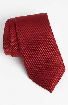 $115, David Donahue Woven Silk Tie Burgundy Regular. Sold by Nordstrom. Click for more info: https://lookastic.com/men/shop_items/89354/redirect