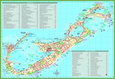 Detailed Tourist map of Bermuda where in the world Pinterest