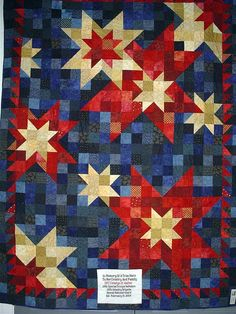 red white and blue quilt. Via http://www.flickr.com/photos/freedomquilts/5264347303/in/faves-sailbit/