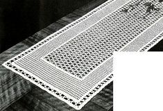Lacet Table Runner crochet pattern originally published in Crochet For Your Home, Book 67. #doilypatterns
