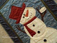 Personalized+Snowman+Quilt++Wall+Hanging+by+MROriginals+on+Etsy,+$130.00