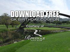 GK Coupon – Riverwalk Golf Club Birthday Tee Time Special