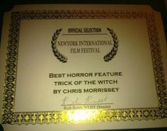 Trick of the Witch Best Horror Feature Award