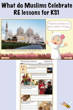 RE lesson plans, slides, differentiated activities and printable resources to teach your Year class all they need to know about Islamic celebrations! Muslim Celebrations, Number Place Value, Prophets In Islam, Teaching Packs, Ks1 Maths, Pilgrimage To Mecca, Islamic New Year, Religious Education, Prophet Muhammad