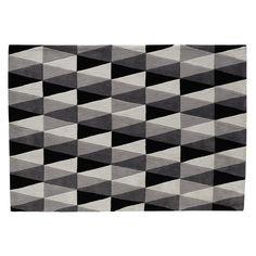 Tapis gris 140 x 200 cm CALLIGRAPHIK