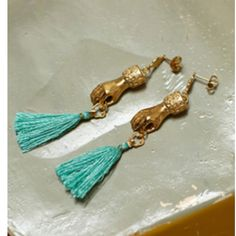 vintage hand earrings