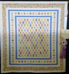 "Diary of a Quilt Maven: Highlights from the 2013 Dallas Quilt Show. Perseverance by Linda Neal of McKinney, TX (This quilt contains 10,509 - 1/2"" hexagons!)"