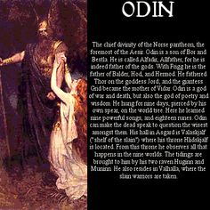 Who Was The Father of All? To anyone who falls for the Vikings and the Norse mythology, the answer to the question Who Was the Father of All is instant. For sure, god Odin or the Allfather is the answer. But how much do we actually know about this big fig Rune Viking, Viking Warrior, Viking Woman, Norse Pagan, Old Norse, Pagan Gods, Thor, Les Runes, Symbole Viking