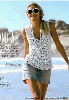 Wild Salt Spirit: CARAMELO DE CROCHET: Clover Summer Flower Tank Top-Alice in Craftyland