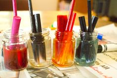 Recycle your Crayola Markers! soaking the ink reservoirs from dried-out markers in plain water
