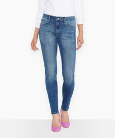 Mid Rise Skinny Jeans (Petite) Levi's - levi.com  - want in all colors avail. size 14M