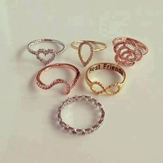 different style and shape rings