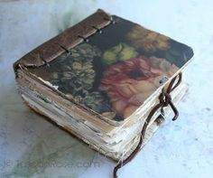 Journal inspiration and eye candy - Rambling Rose - typepad blog. Little chunky rose book