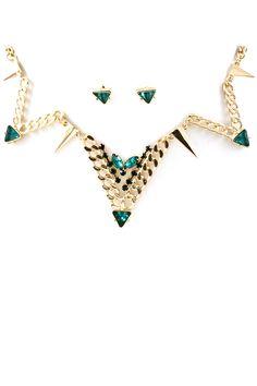 Emerald Deco Necklace | Emma Stine Jewelry Necklaces