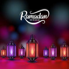 Illustration about Ramadan mubarak vector design with colorful lanterns or fanoos in dark night background. Illustration of lantern, celebration, holiday - 89617282 Ramzan Mubarak Quotes, Ramzan Mubarak Image, Ramzan Mubarak Wallpapers, Ramzan Wallpaper, Ramzan Images, Ramazan Mubarak, Jumma Mubarak, Eid Mubarak Wallpaper, Ramadan Greetings