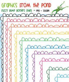 FREE Fuzzy Bumps Borders THIN Set